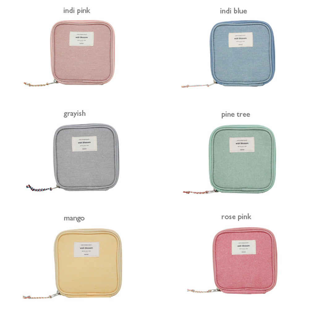 Colors of Wish blossom mind compact zipper pouch