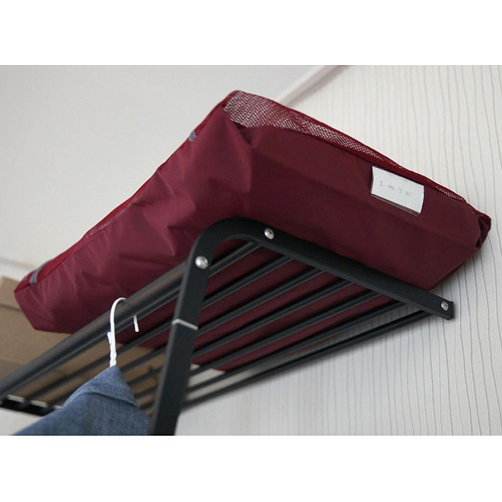 Burgundy - Travelus mesh packing organizer bag XXL ver.2