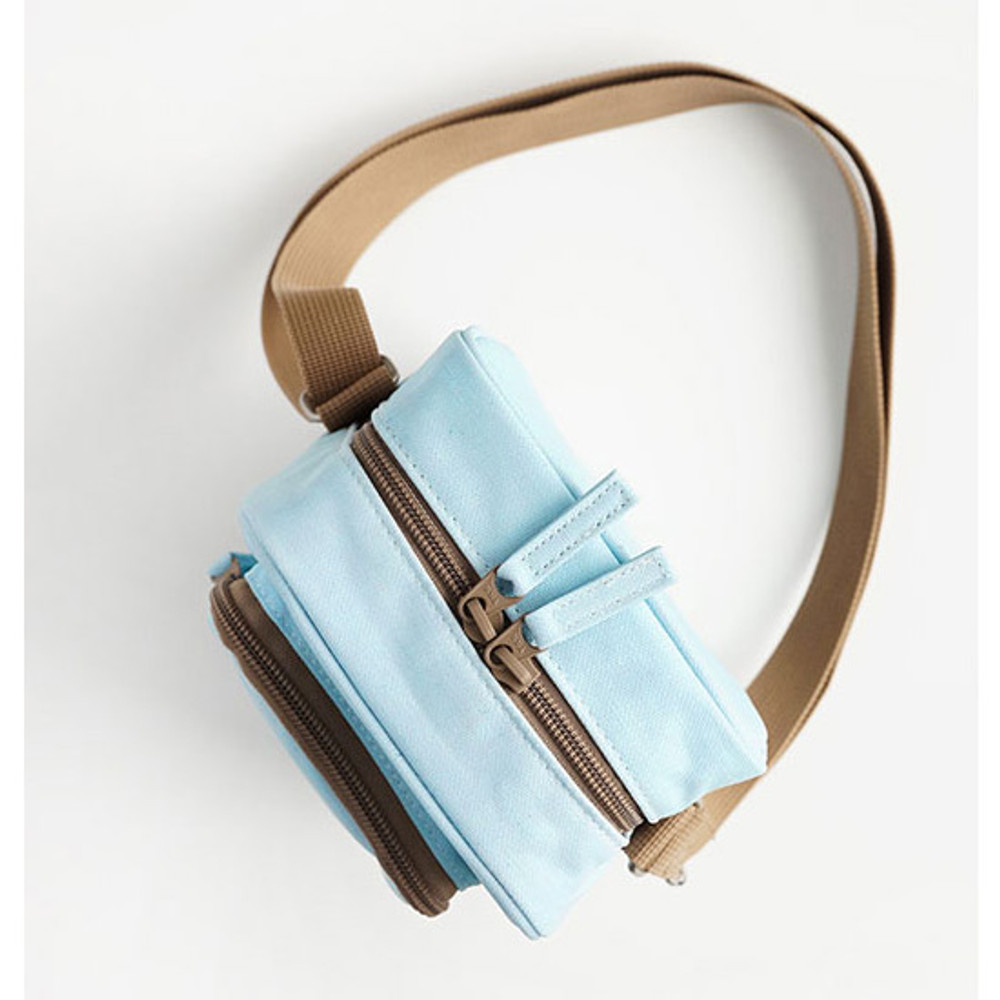 Sky blue - Walking cooler crossbody shoulder bag