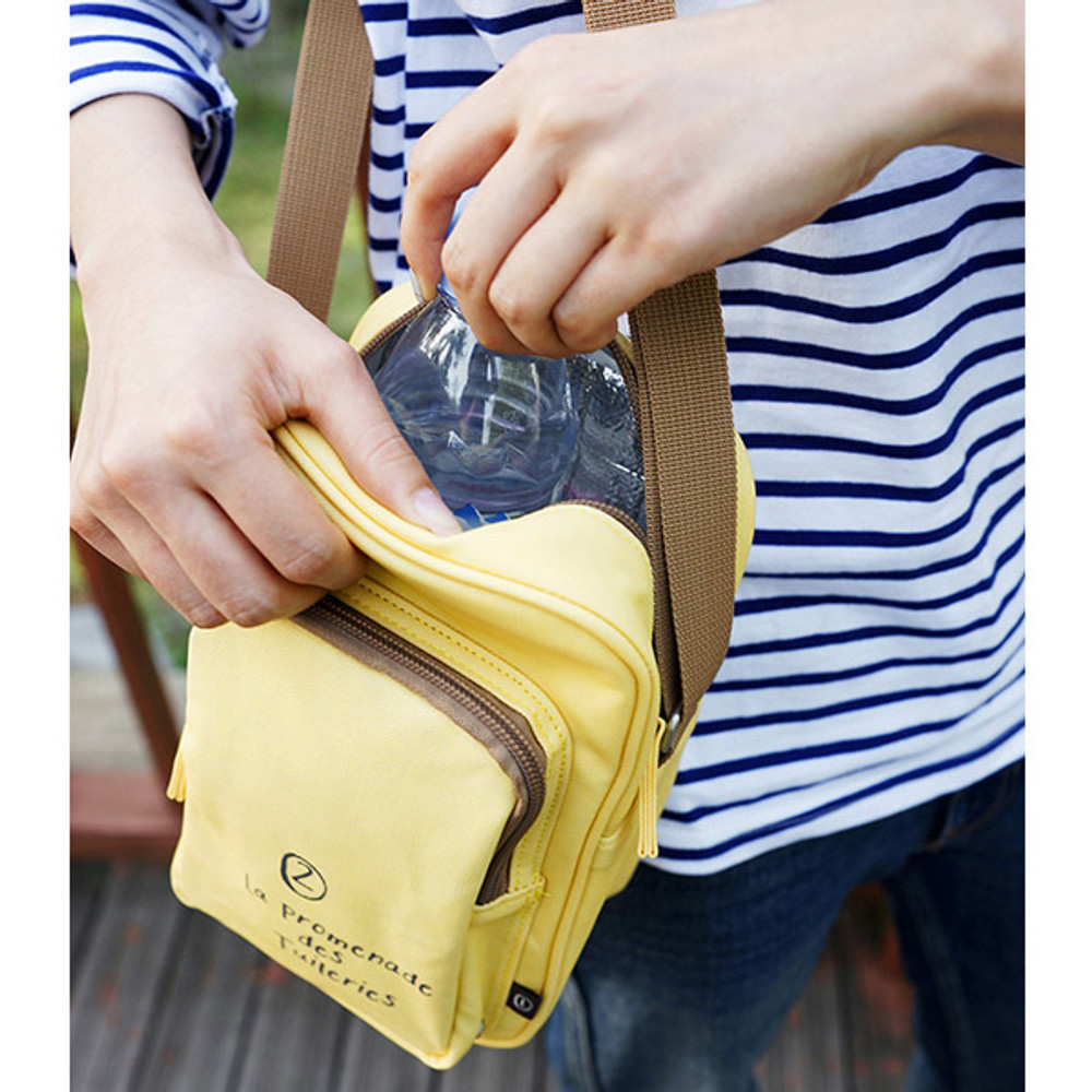 Yellow - Walking cooler crossbody shoulder bag