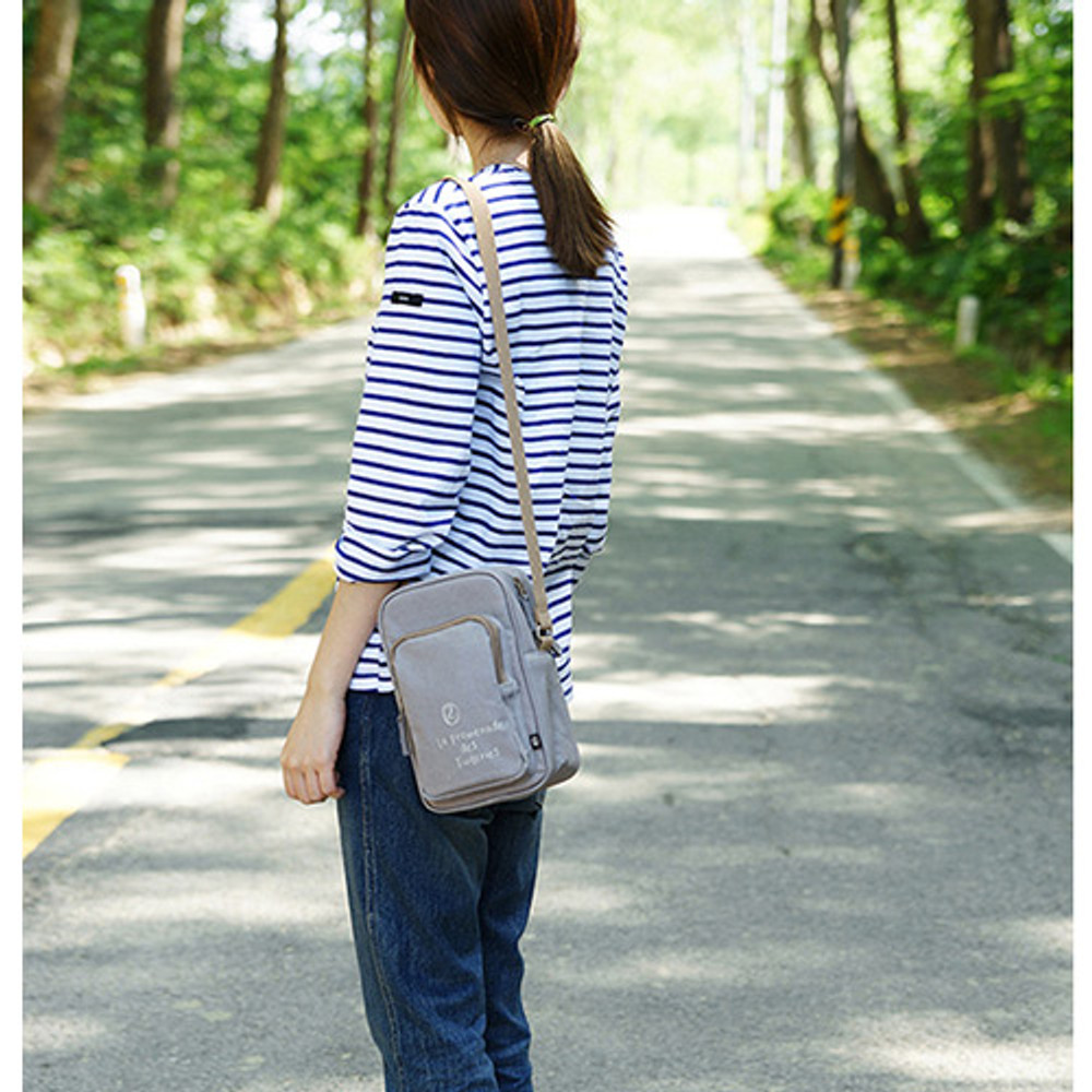 Gray - Walking cooler crossbody shoulder bag