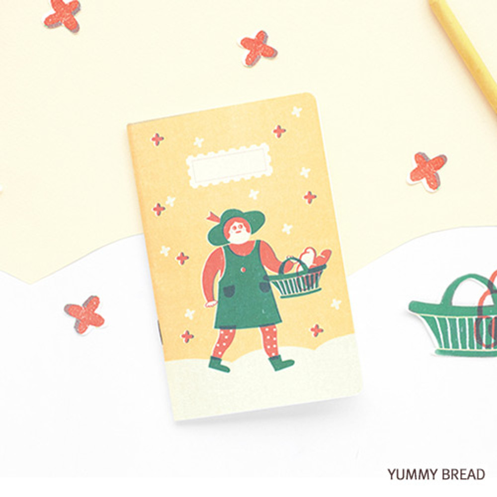 Yummy bread - Breezy day small lined notebook