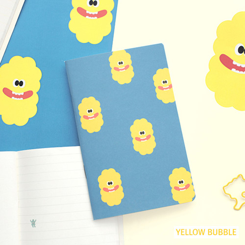 Yellow bubble - Som som small lined notebook
