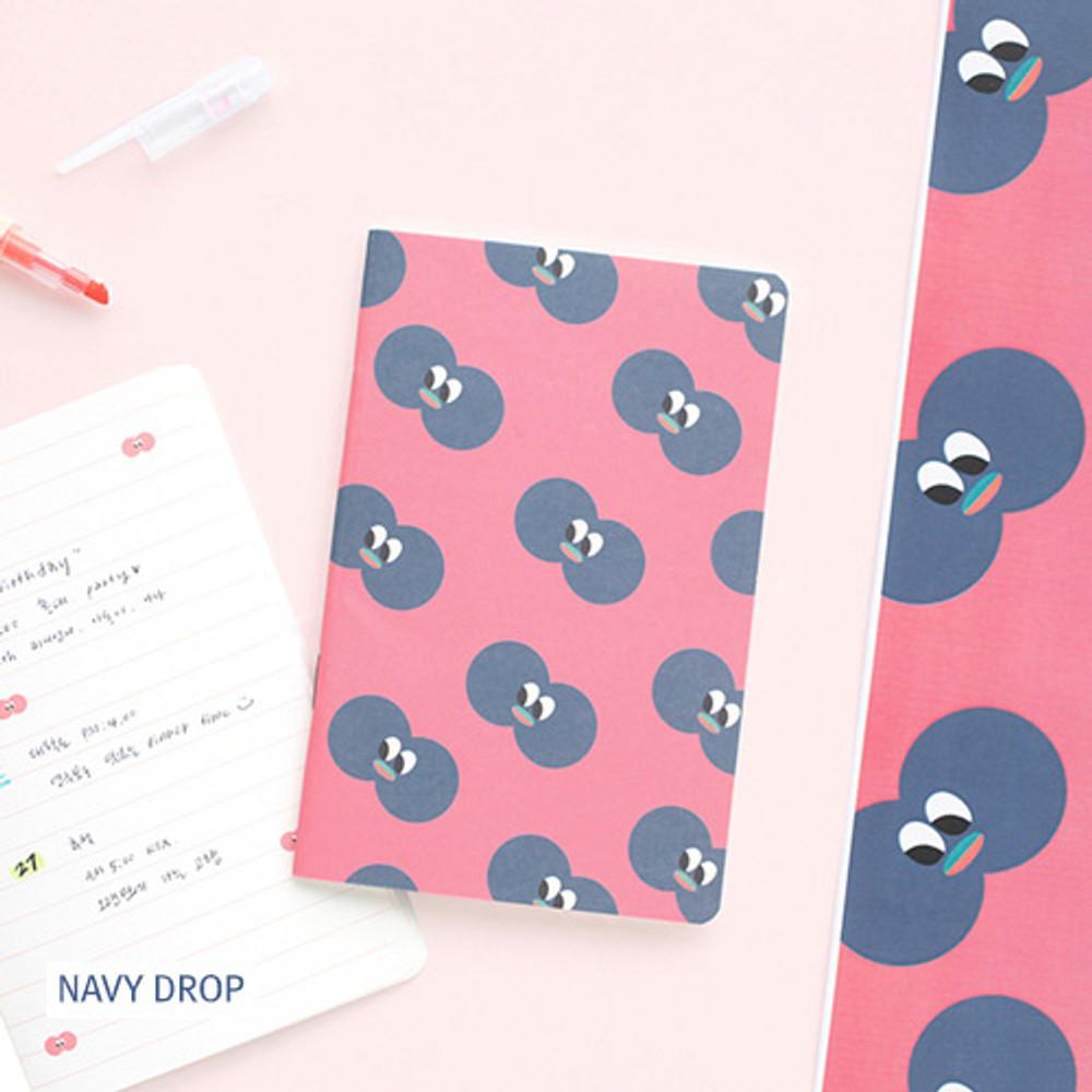 Navy drop - Som som small lined notebook