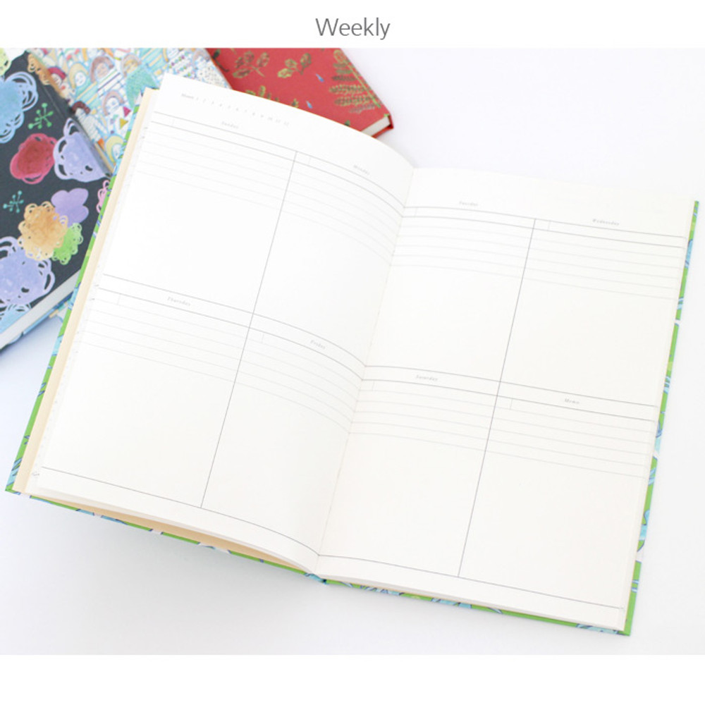 Weekly - D pattern undated diary scheduler