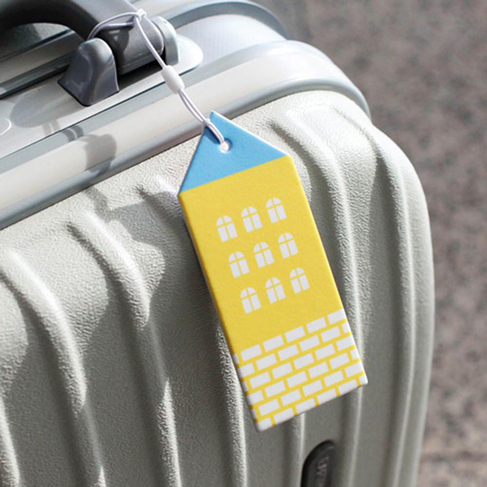Yellow - City travel luggage name tag
