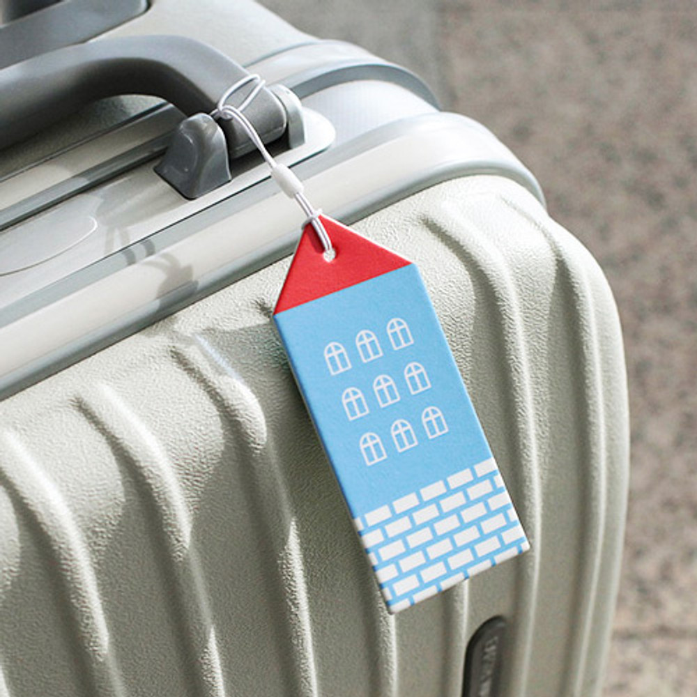 Blue - City travel luggage name tag