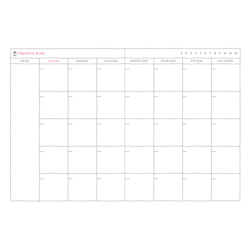 Monthly plan - 2016 Day N zoo undated daily diary