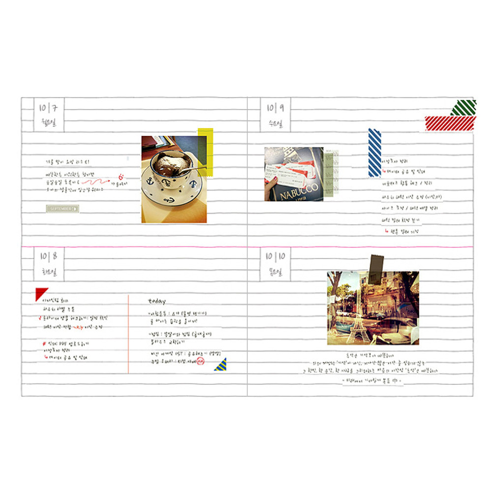 Daily plan - 2016 Day N zoo undated daily diary