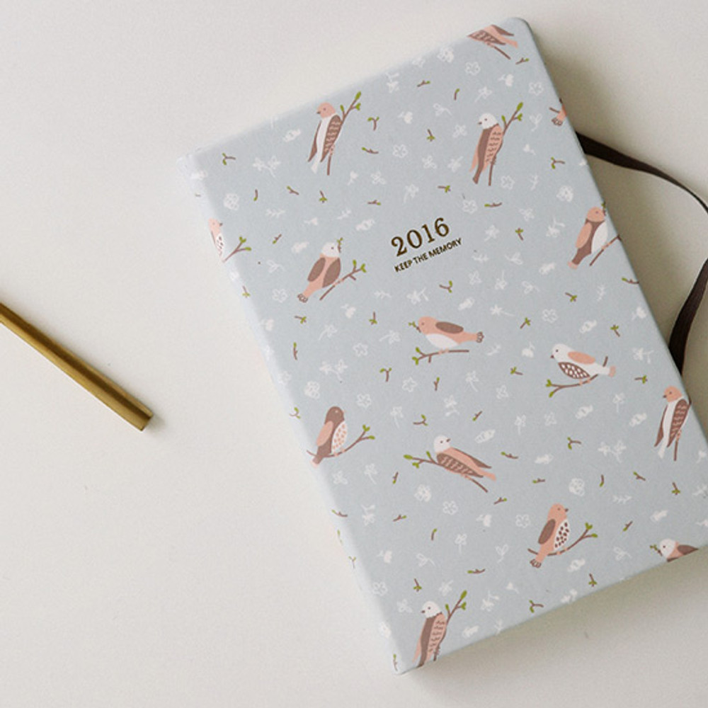 2016 Keep the memory undated daily diary