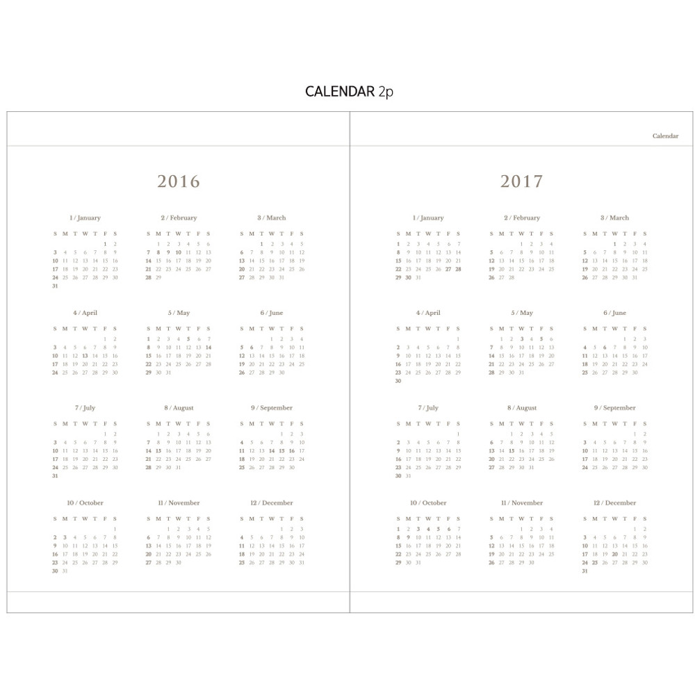 Calendar - 2016 Keep the memory undated daily diary