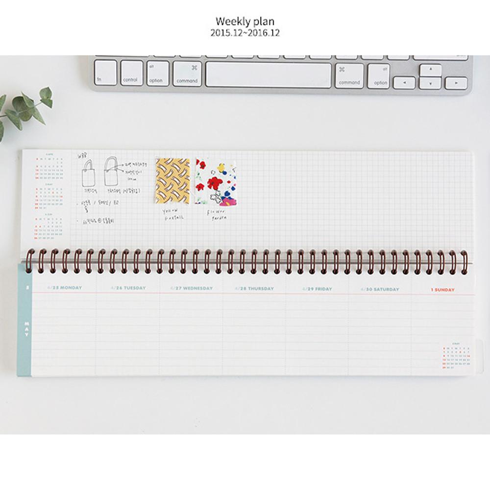 Weekly plan - Desk wirebound dated planner