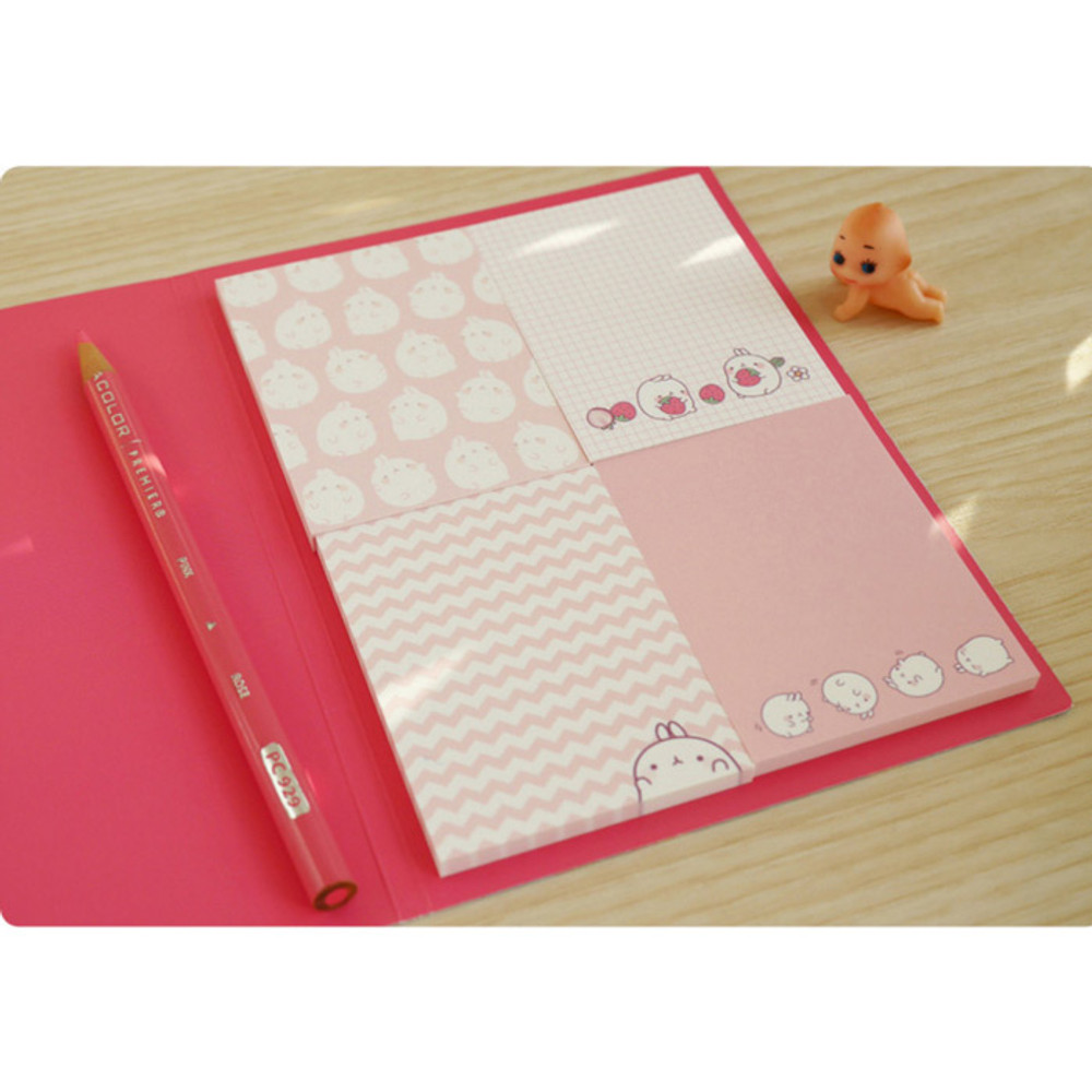 Strawberry - Molang cute pattern sticky note