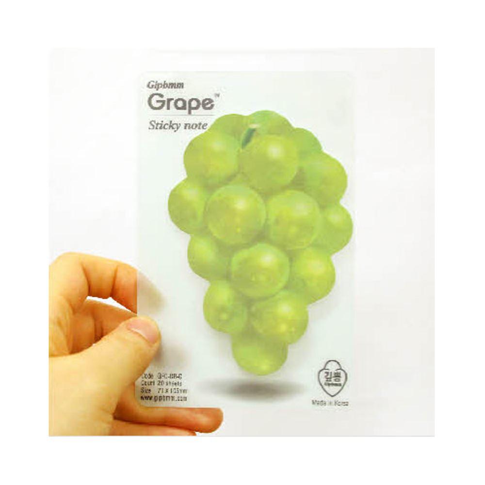 Green grape sticky memo notes