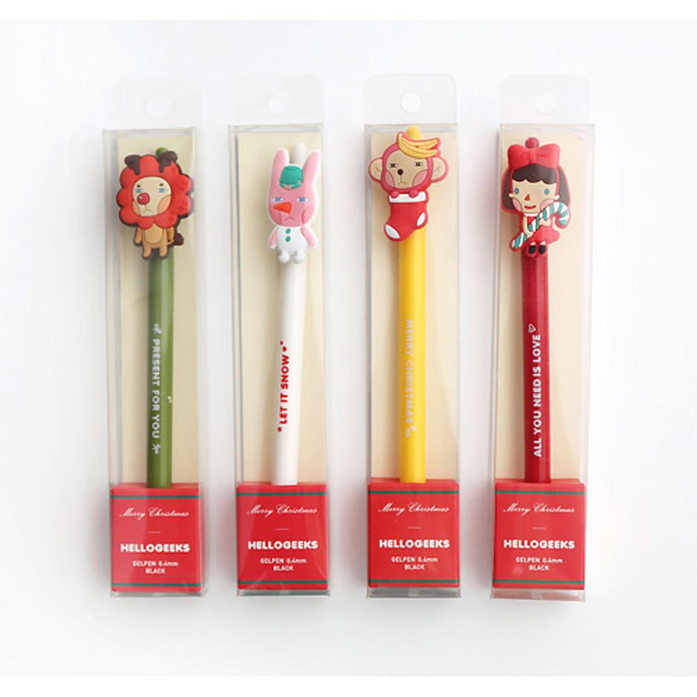 Package for Hellogeeks christmas black gel pen