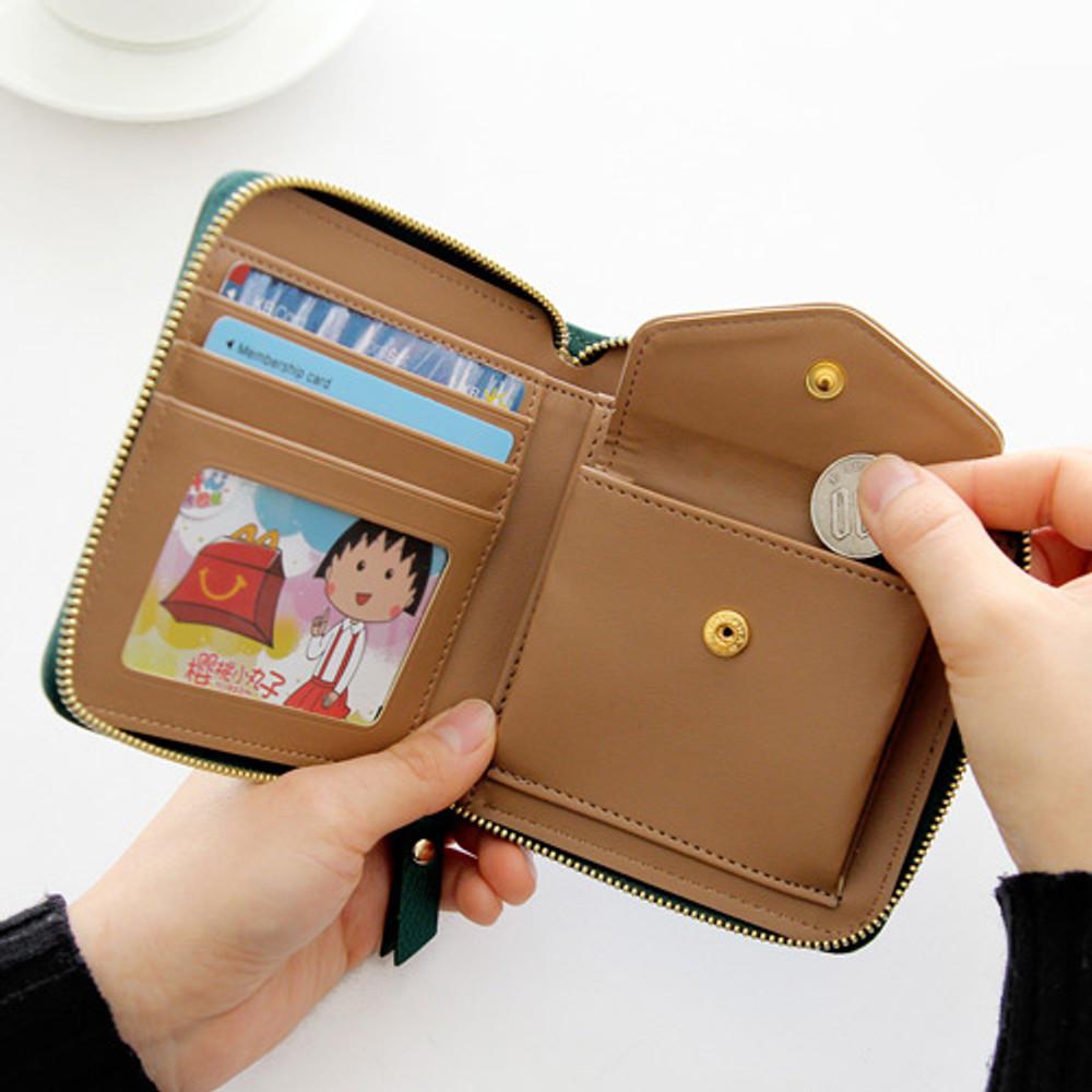 Zip coin pocket