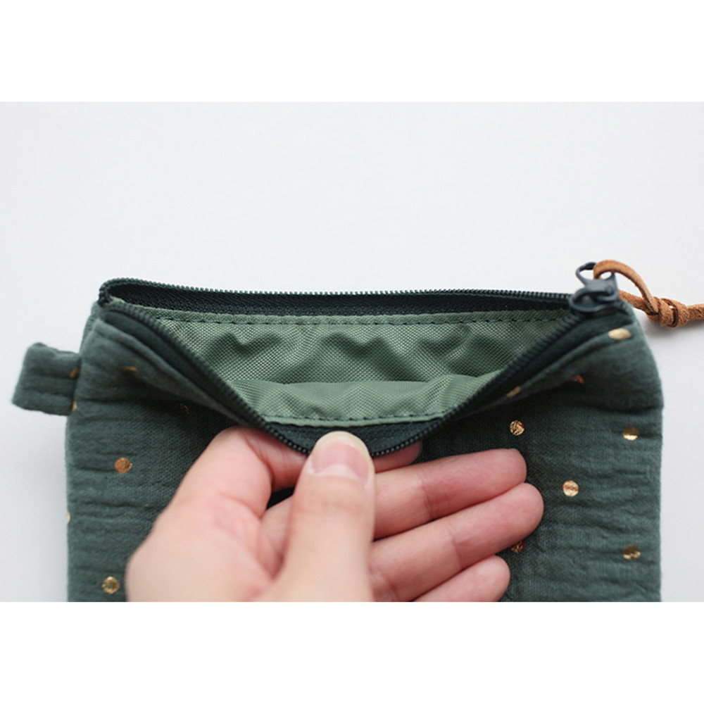 Inside of Warm breeze blows square zipper pouch