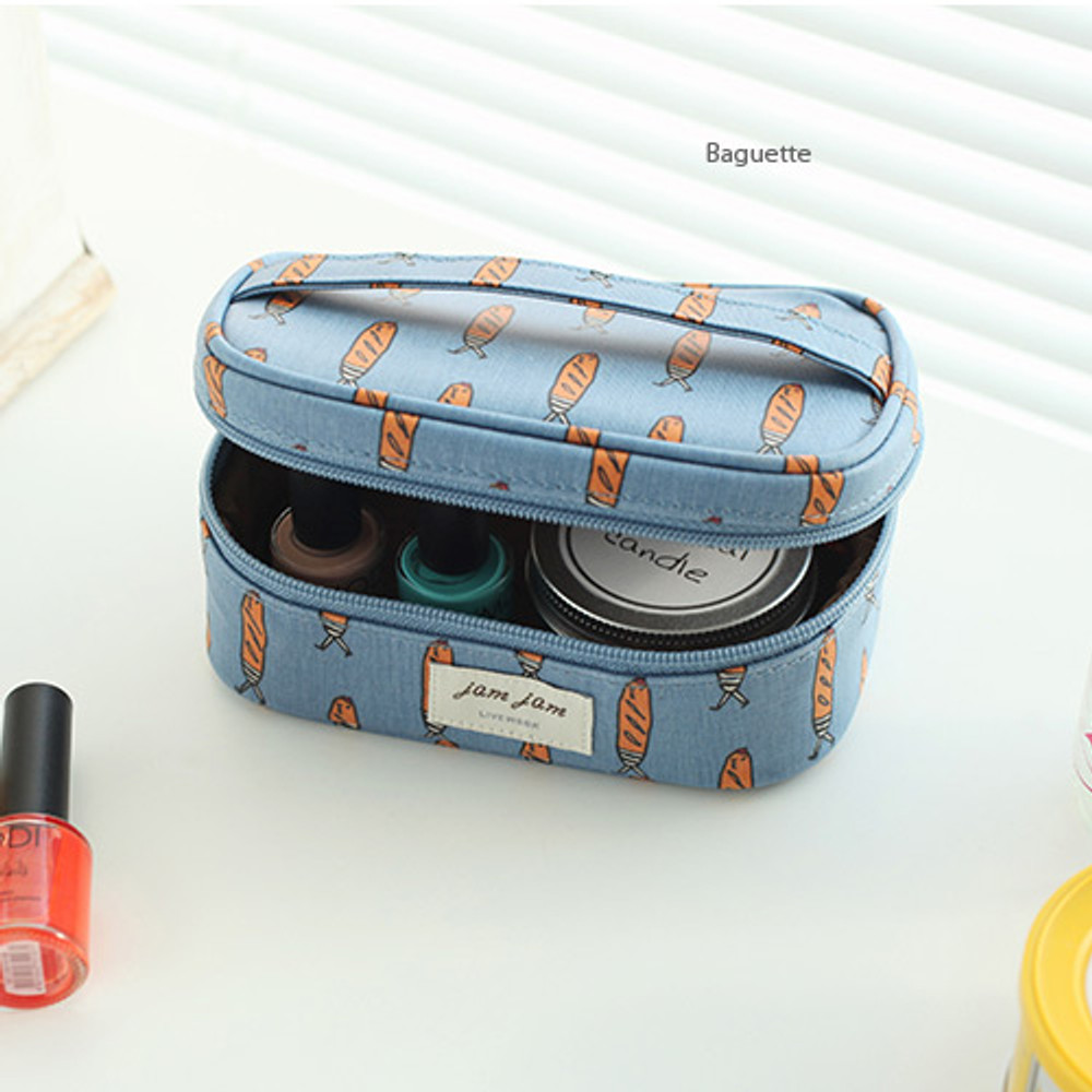 Baguette - Jam Jam cute illustration make up cosmetic pouch