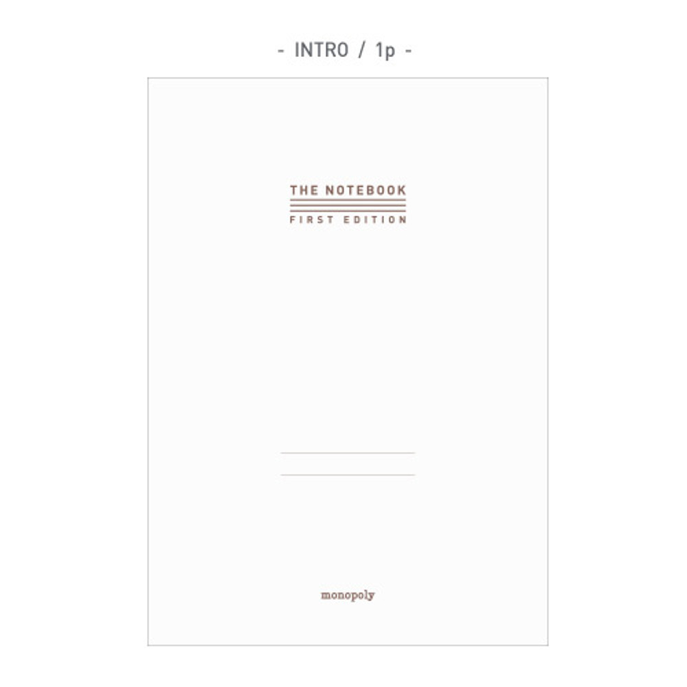 Intro - The first edition hardcover notebook
