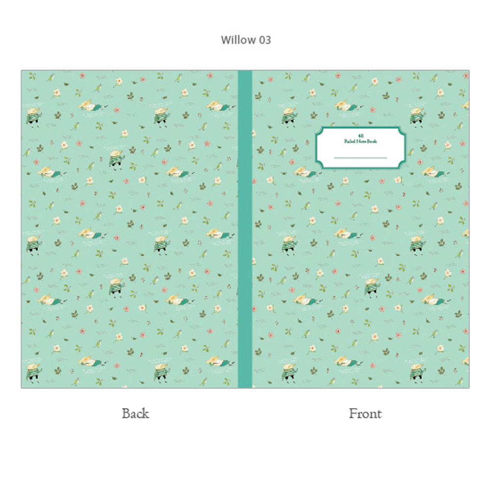Mint - Willow story classic lined notebook