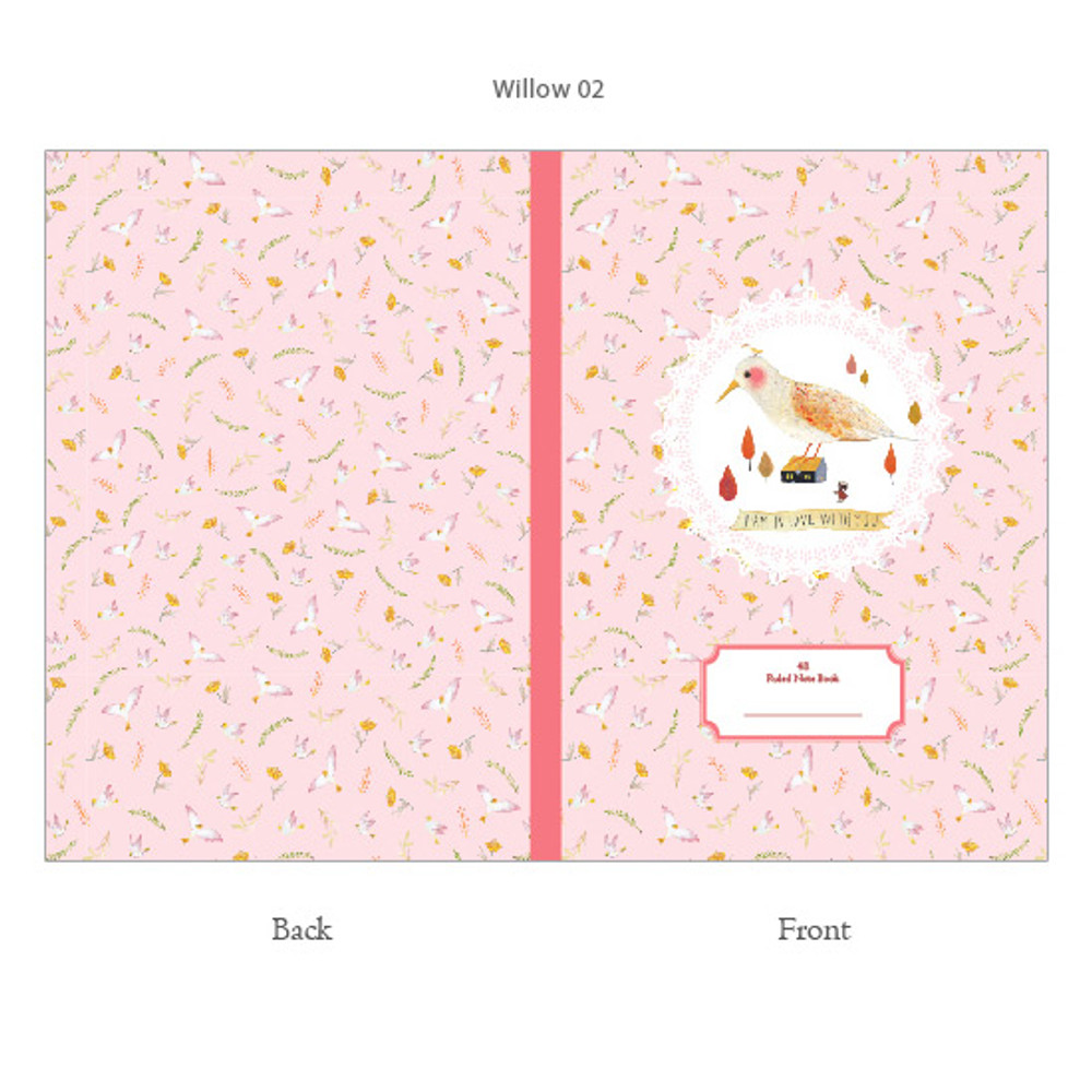 Pink - Willow story classic lined notebook