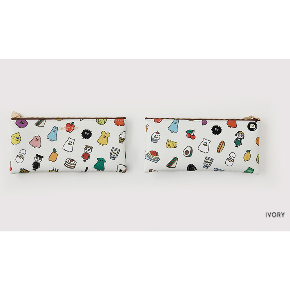 Ivory - Ghost pop zipper pouch S ver.2