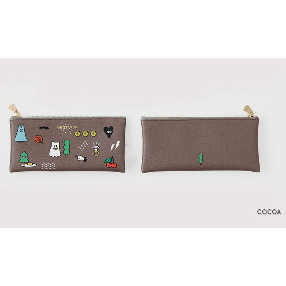 Cocoa - Ghost pop zipper pouch S ver.2