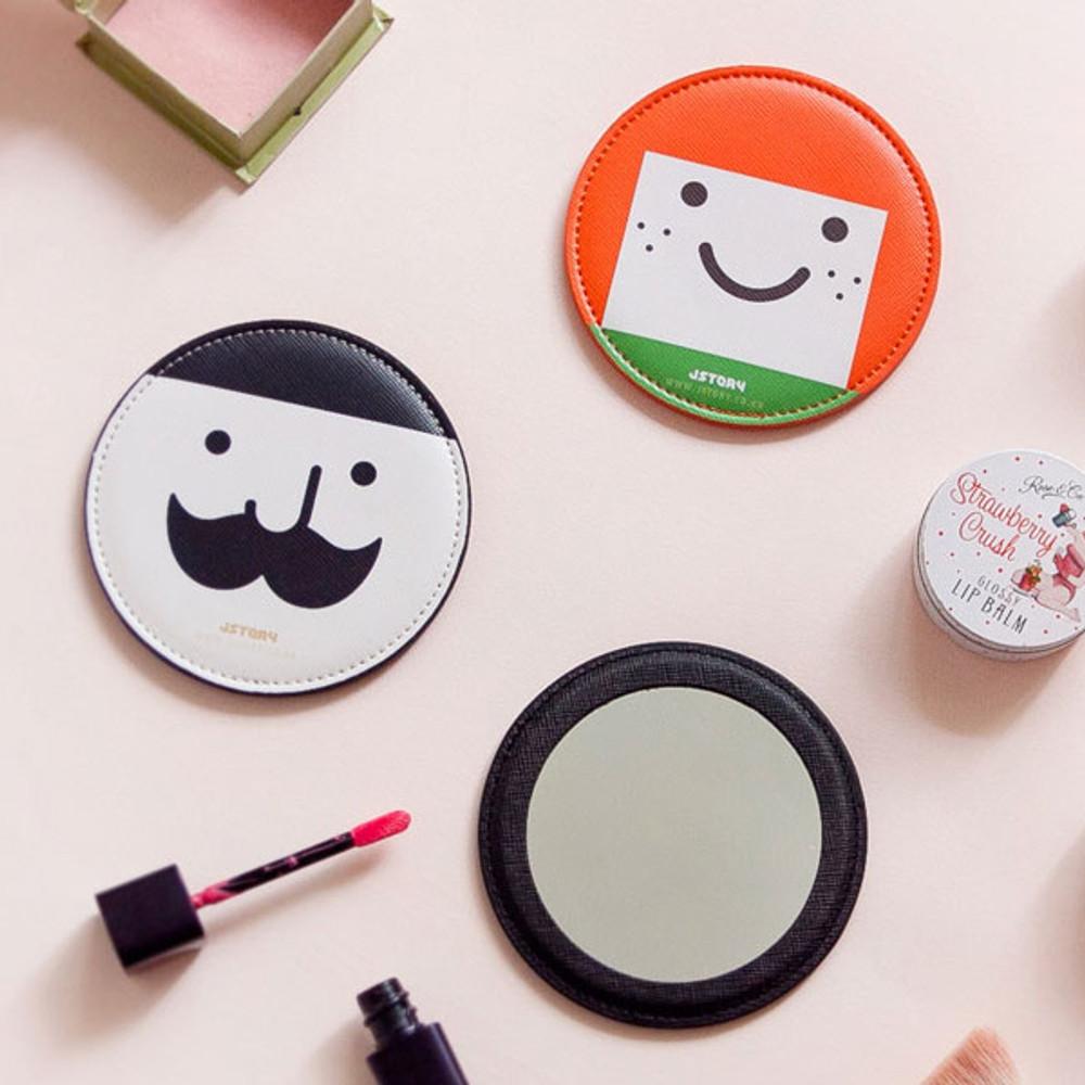 Hello round handy mirror