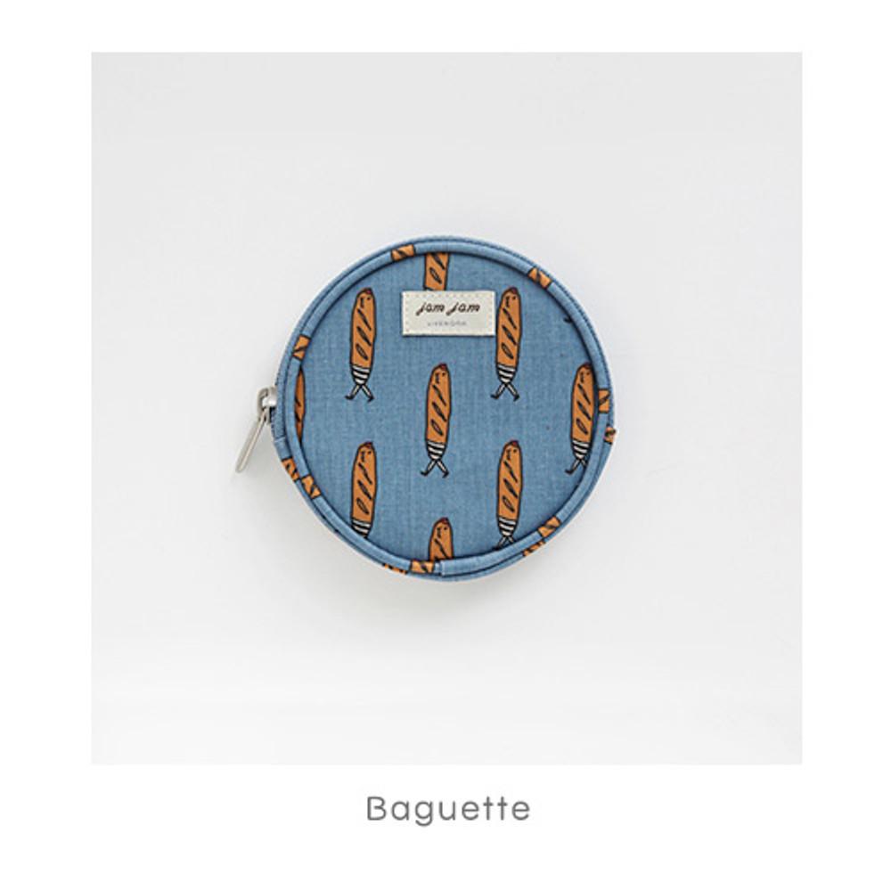 Baguette - Jam Jam pattern circle zipper pouch