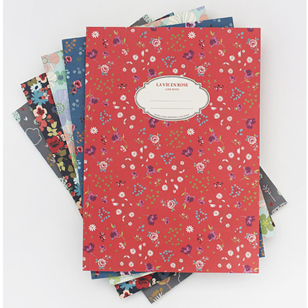 La vie en rose B5 size lined notebook
