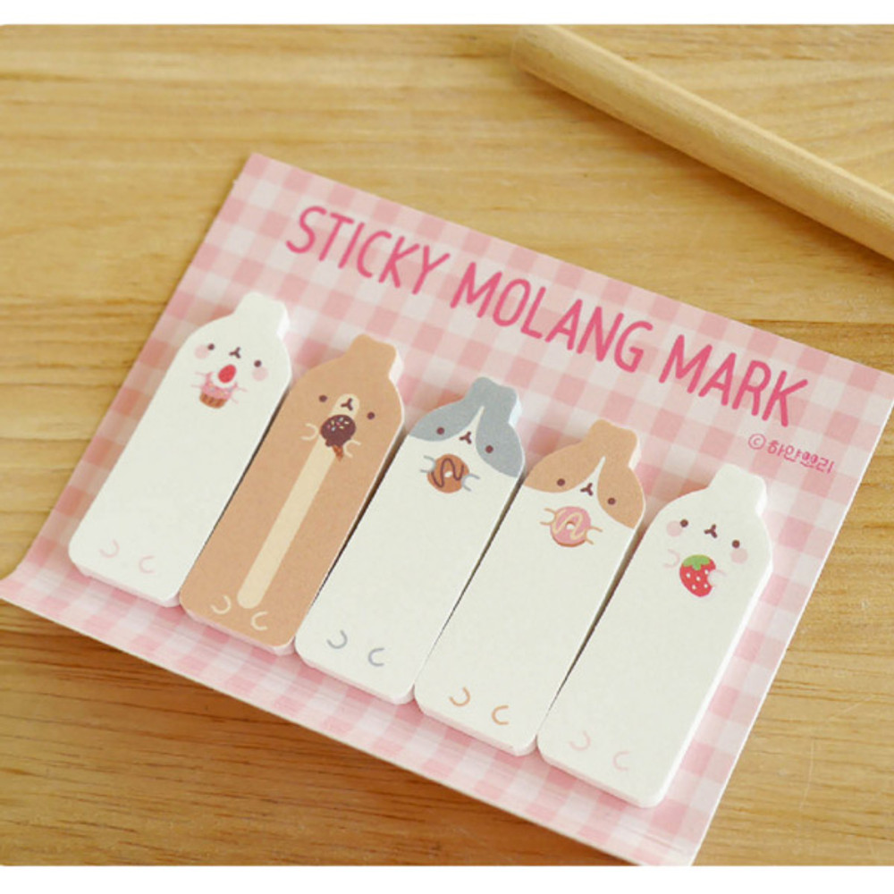 Molang sticky memo notes bookmark