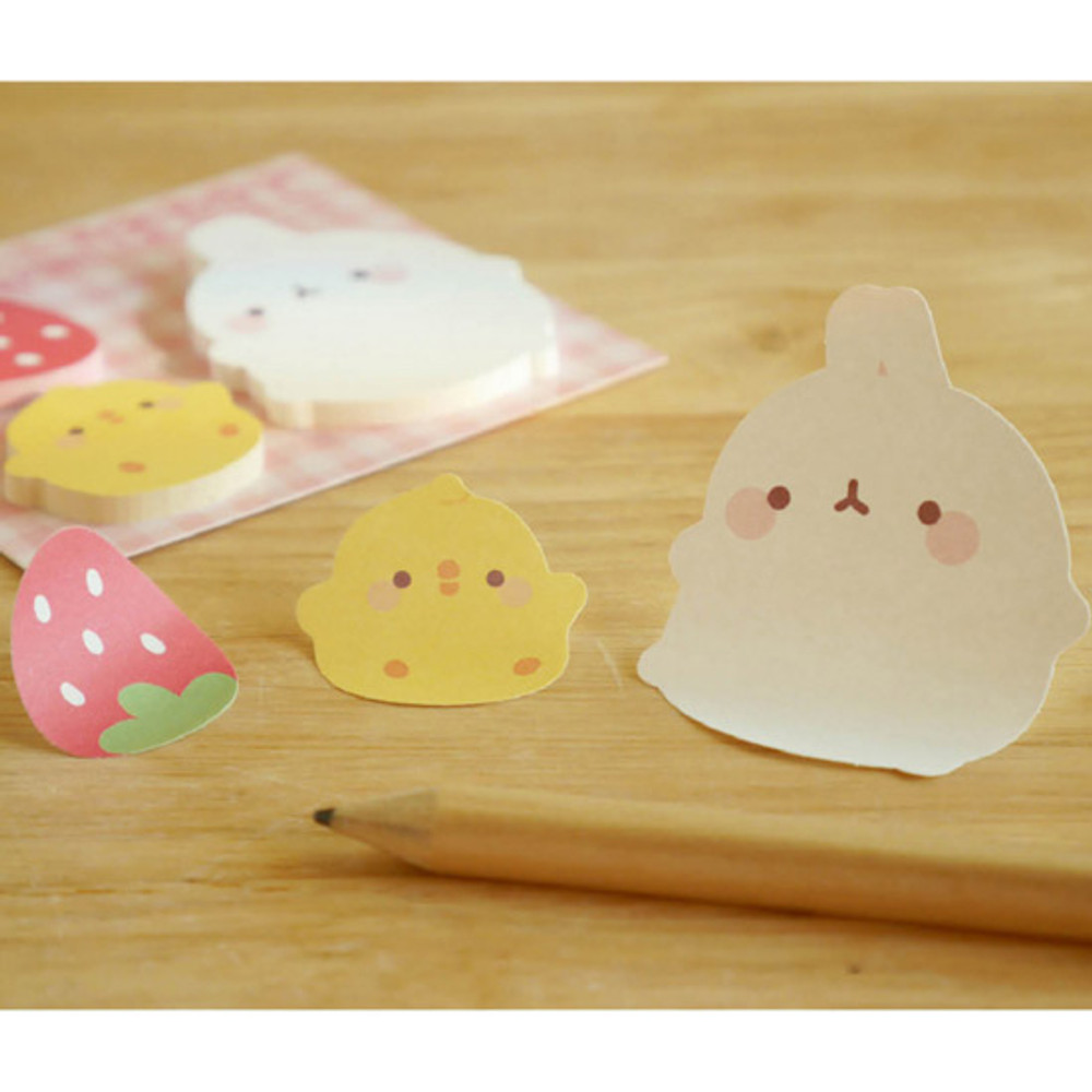 Molang cute animal sticky memo note