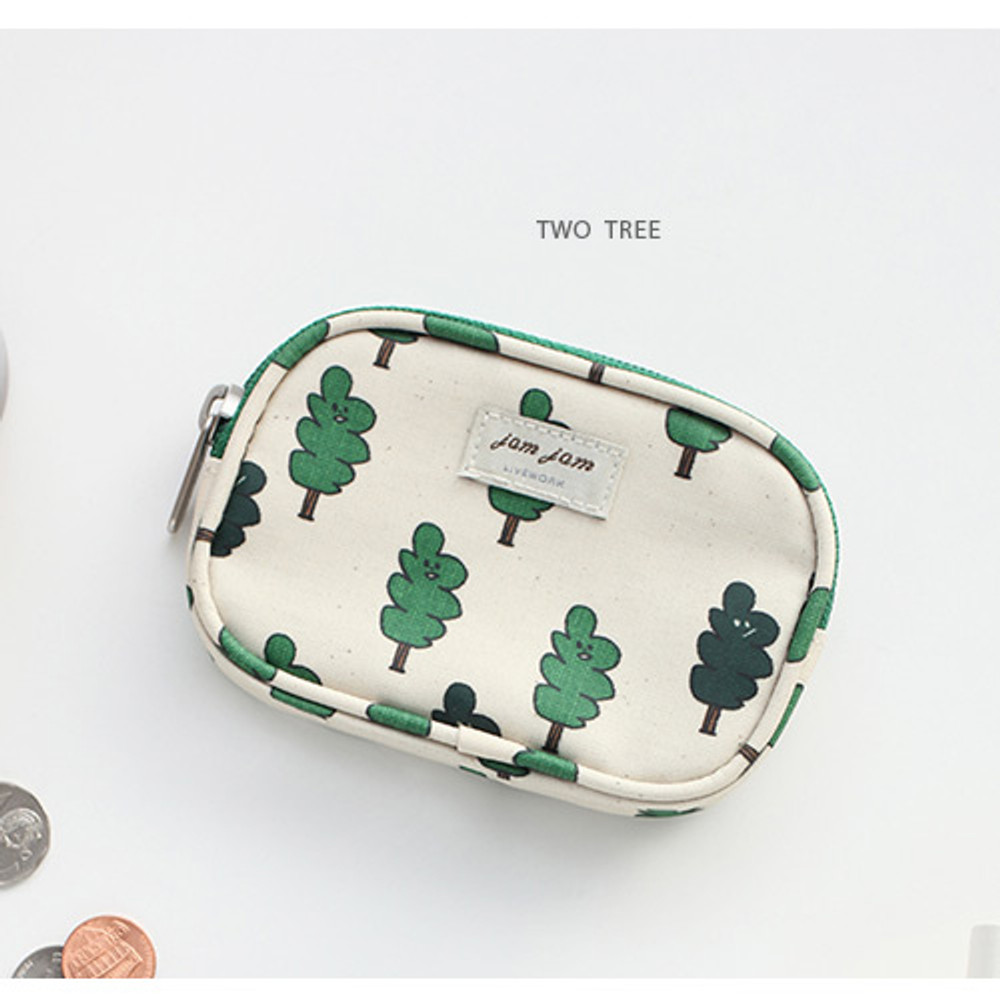 Two tree - Jam Jam pattern card case pouch