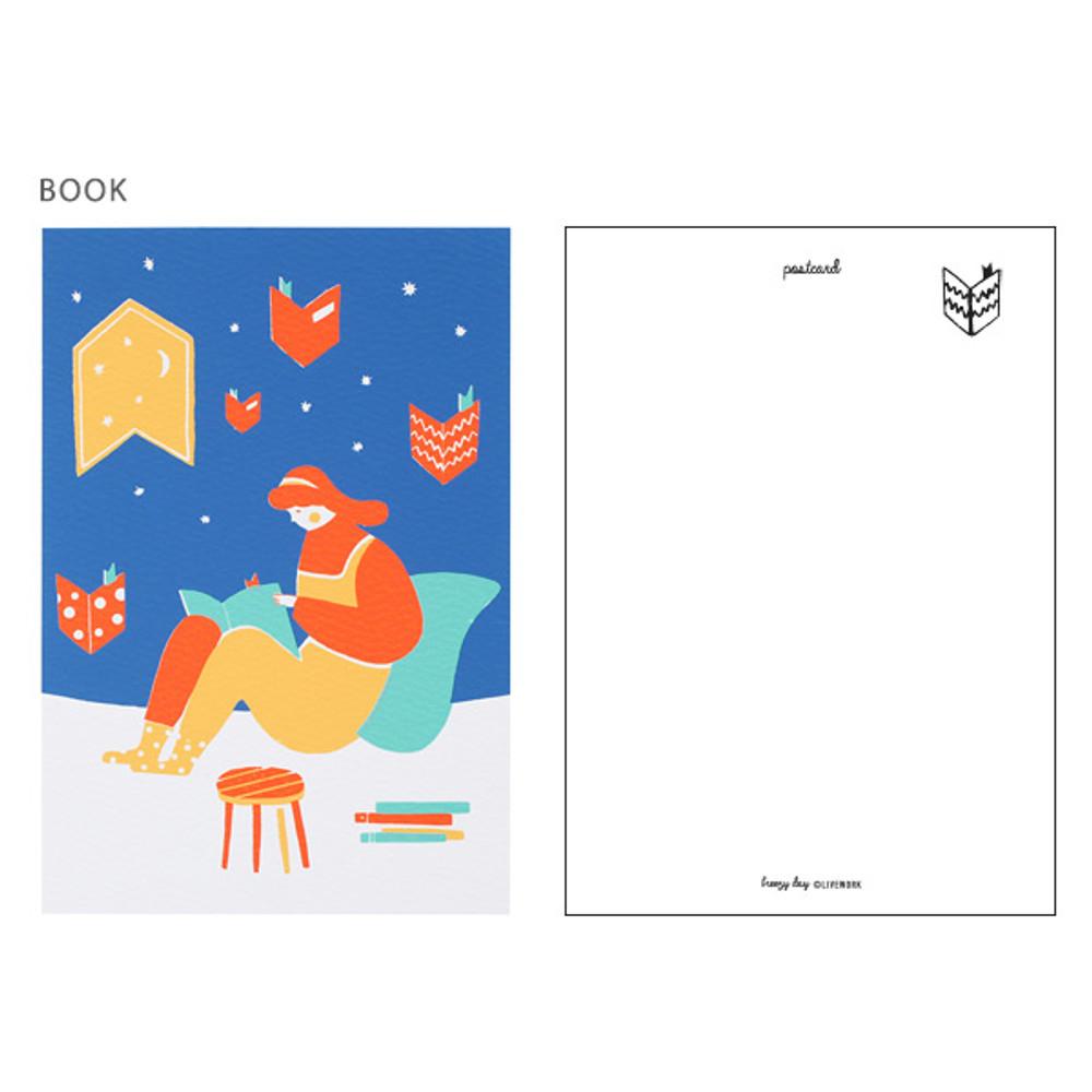 Book - Breezy day silk screen postcard