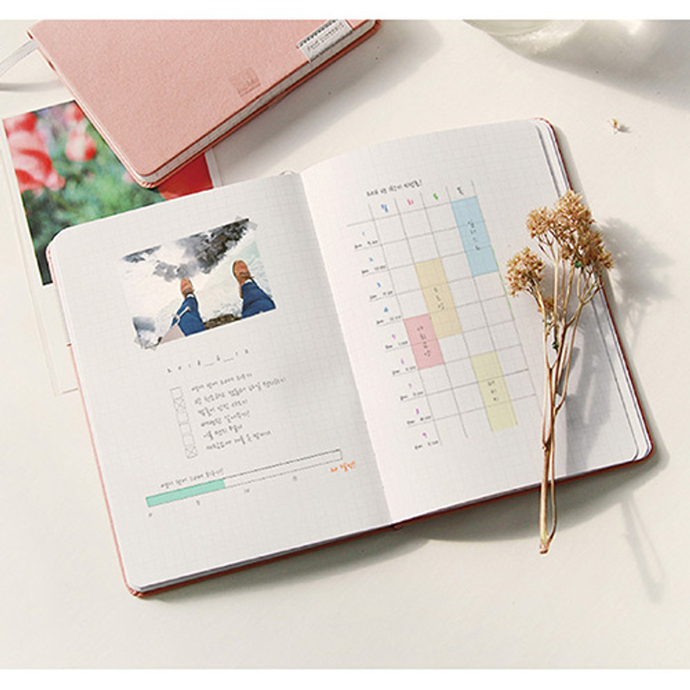 Grid note - Day by Day large lined and grid notebook