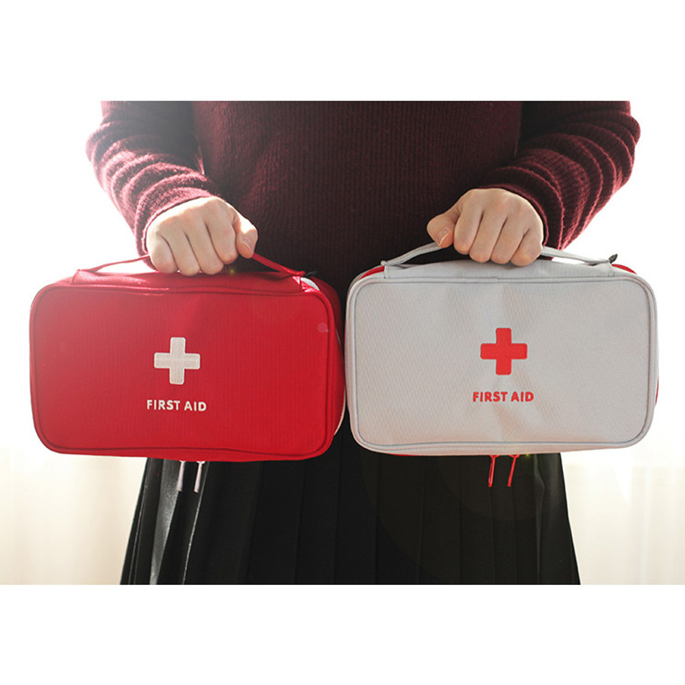 Le around first aid zip around large pouch