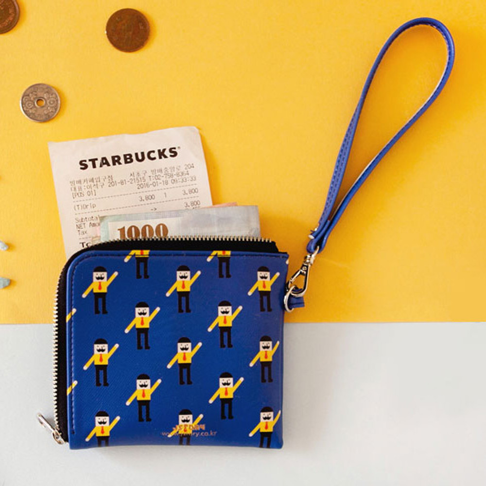 Mr.BABBA - Hello half zip around wallet