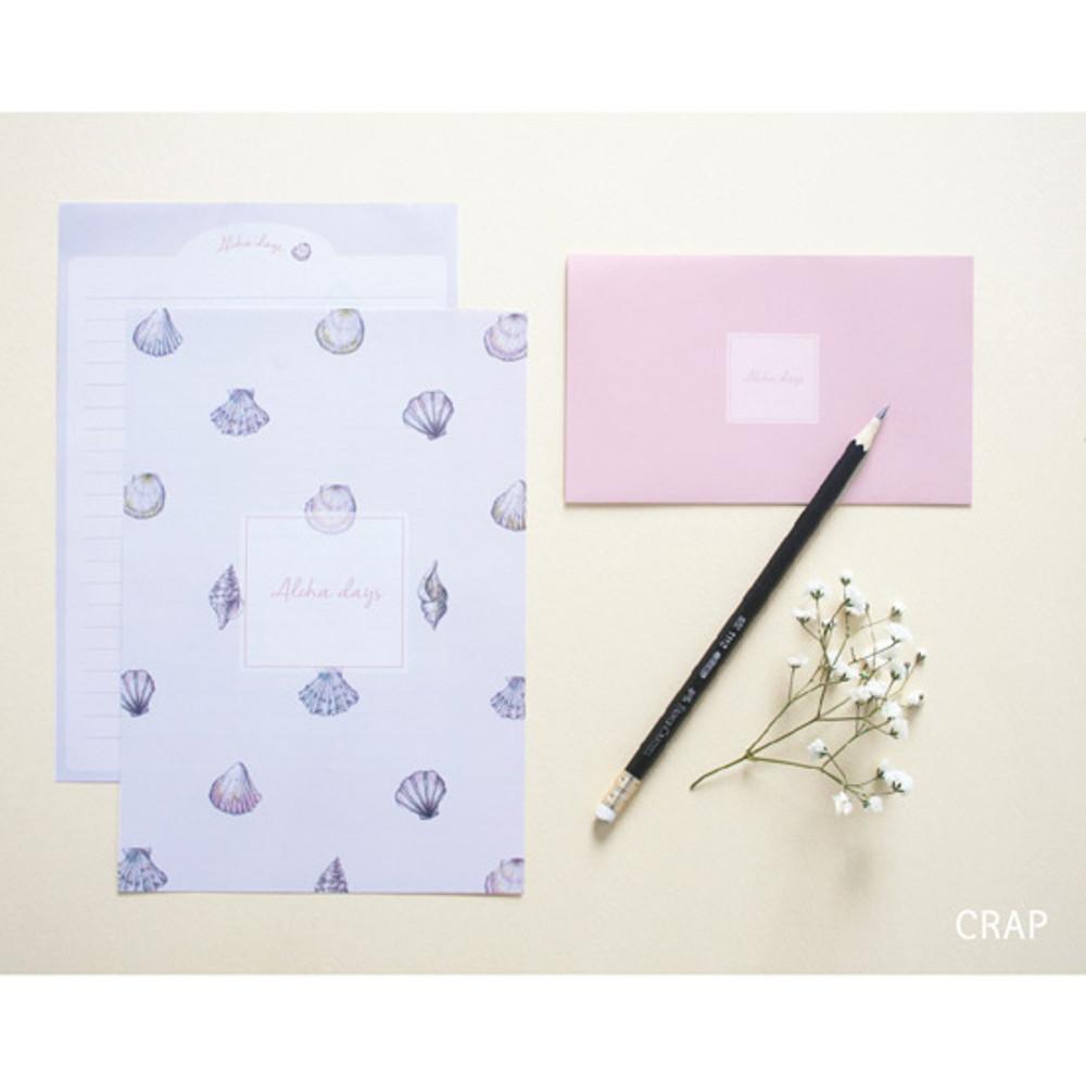 Crap - illustration pattern letter paper and envelope set