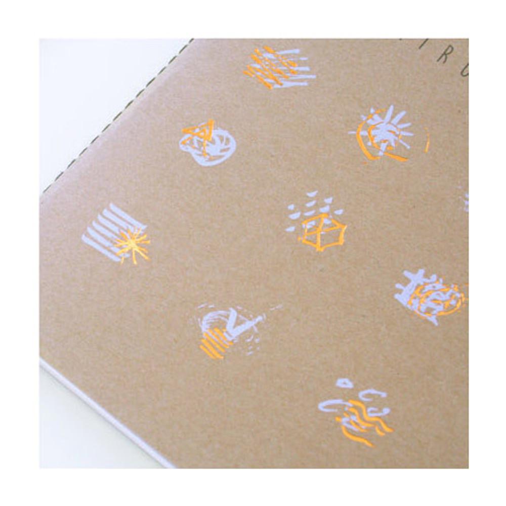 Kraft - Inocence nature plain drawing notebook