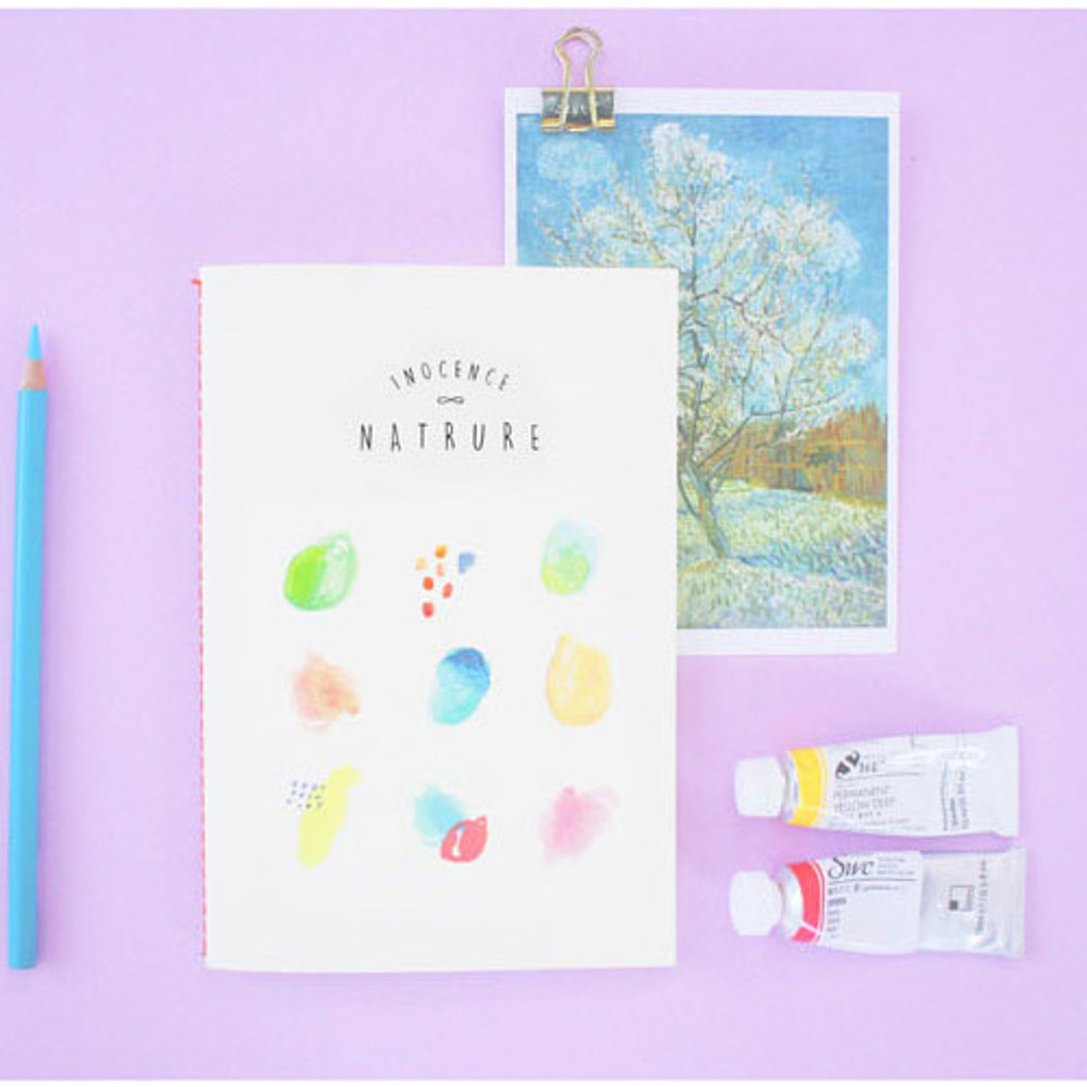 Ivory - Inocence nature plain drawing notebook