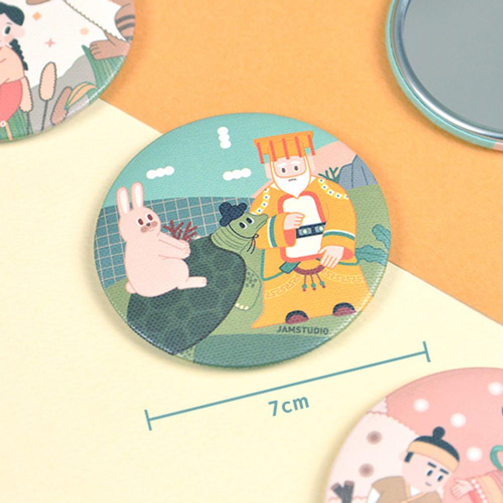 Size of Korean fable pocket round handy mirror