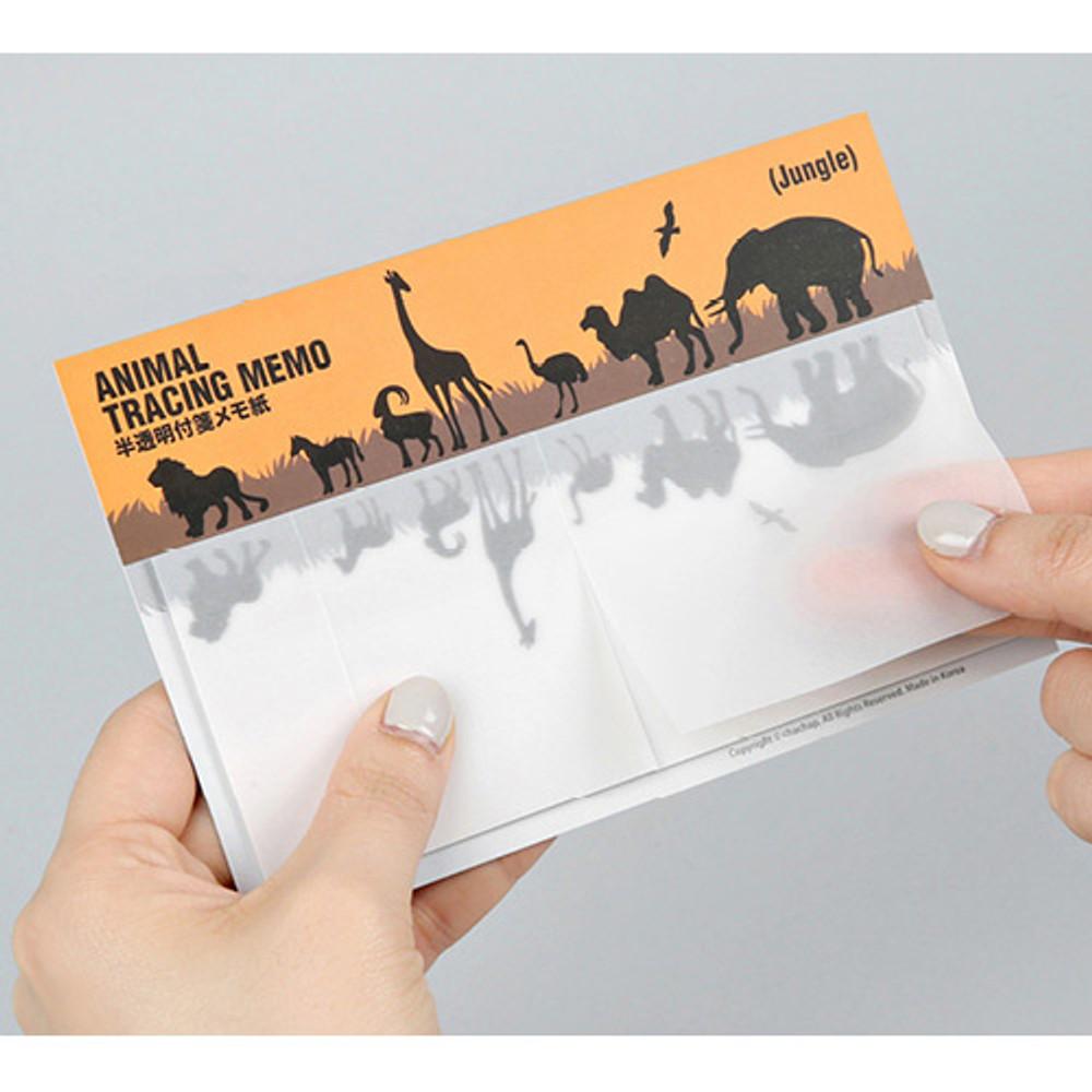 Animal translucent sticky memo note set - Jungle