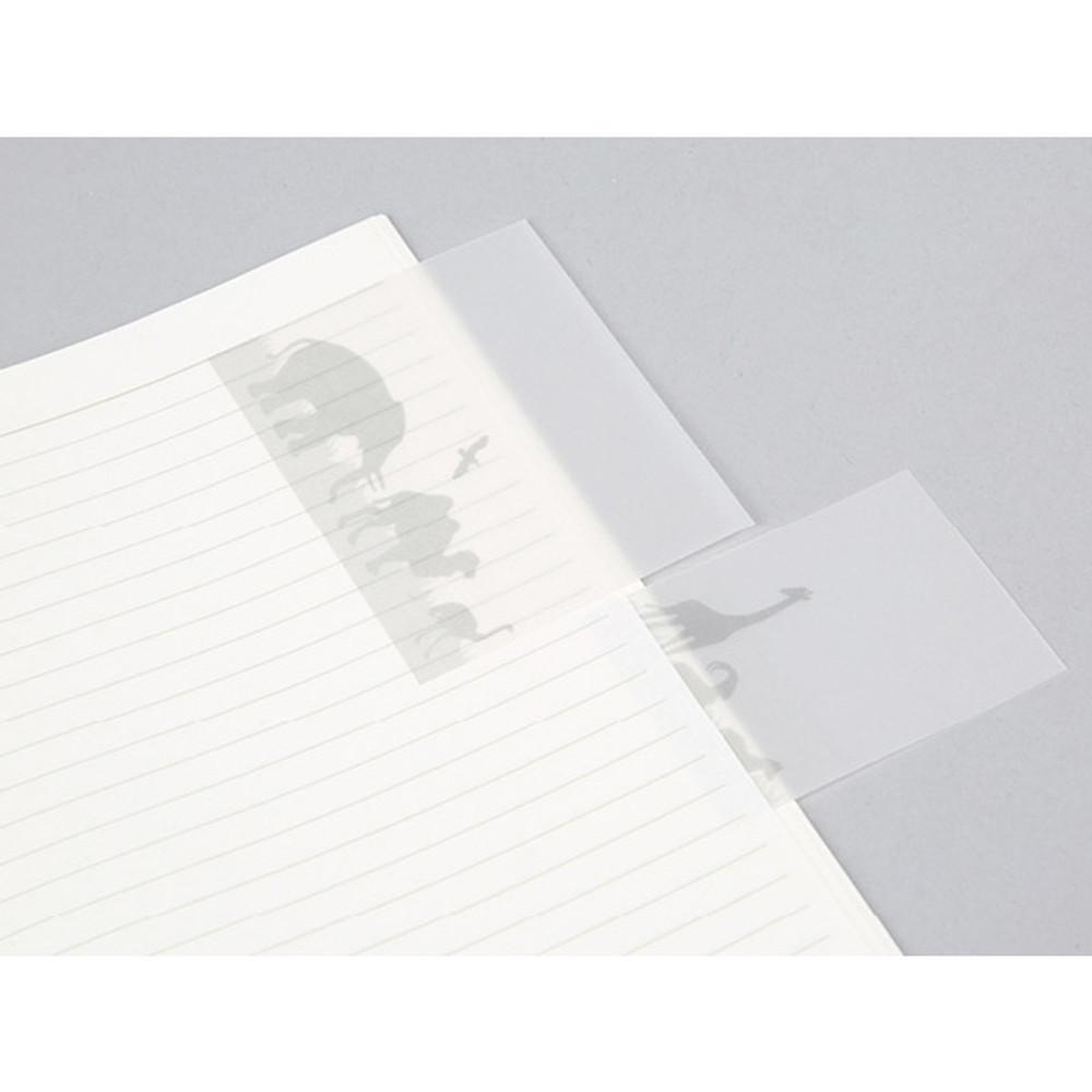 Detail of Animal translucent sticky memo note set - Jungle