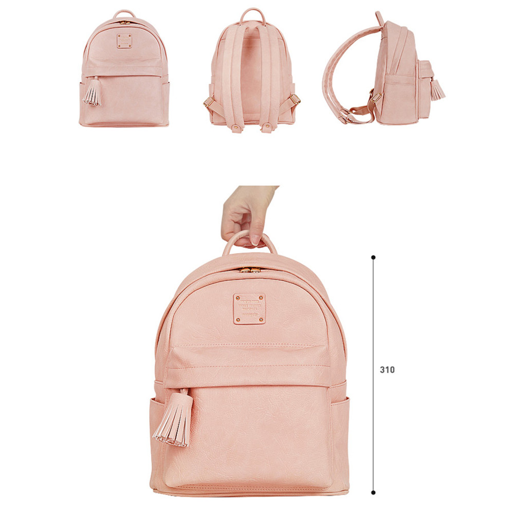 Size of Nuevo mini office leather backpack with tassel