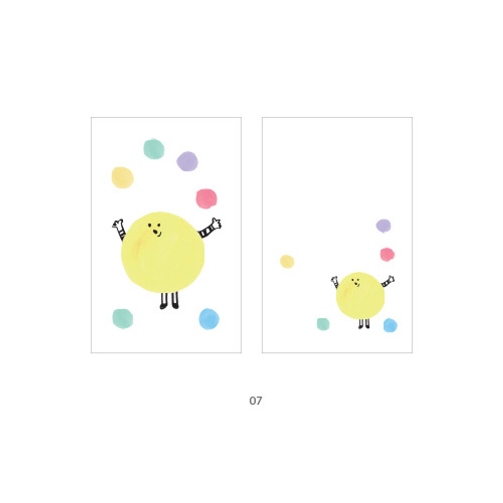 07 - Cute illustration message card set