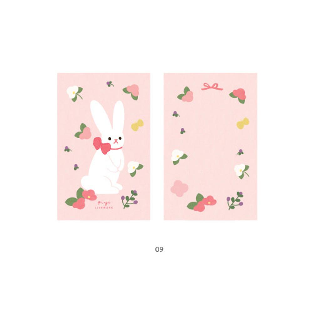 09 - Cute illustration message card set
