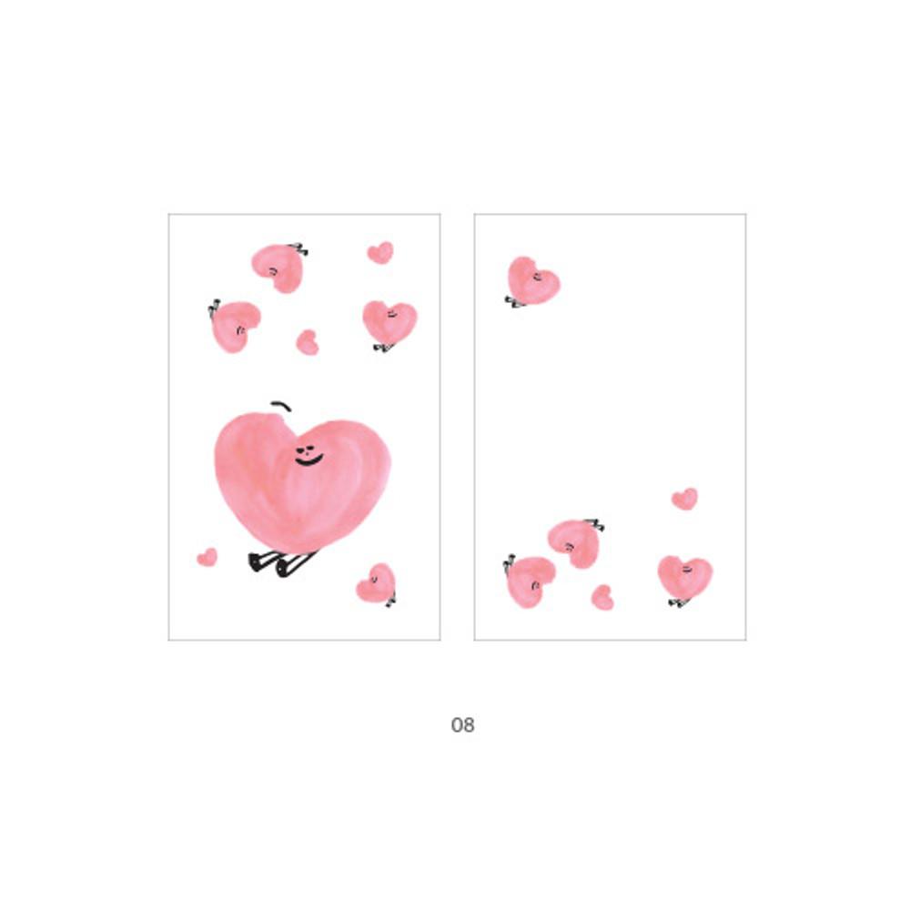 08 - Cute illustration message card set
