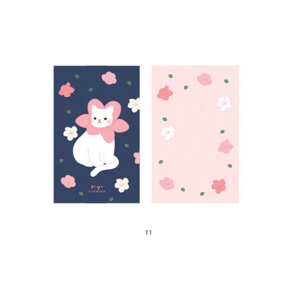 11 - Cute illustration message card set