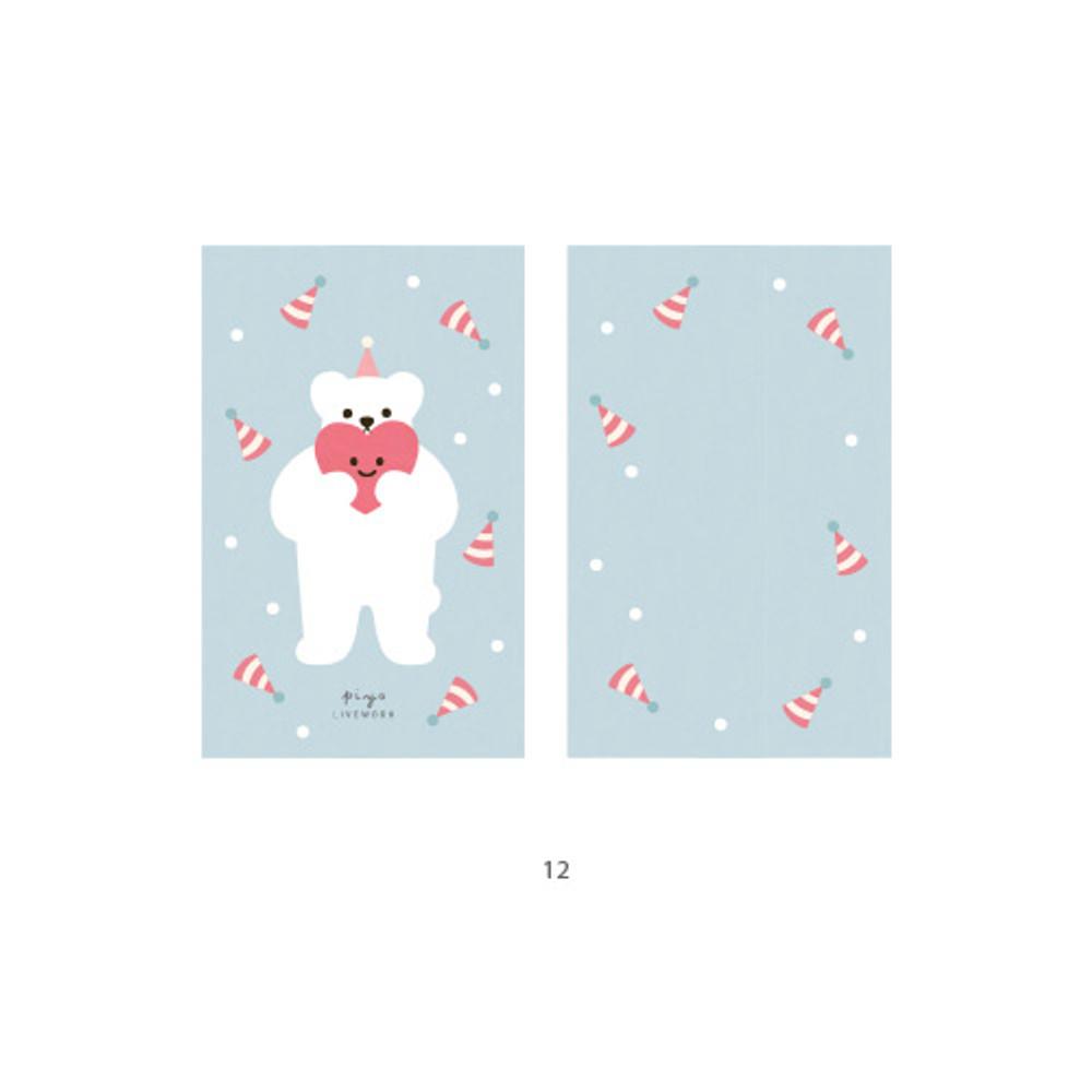 12 - Cute illustration message card set