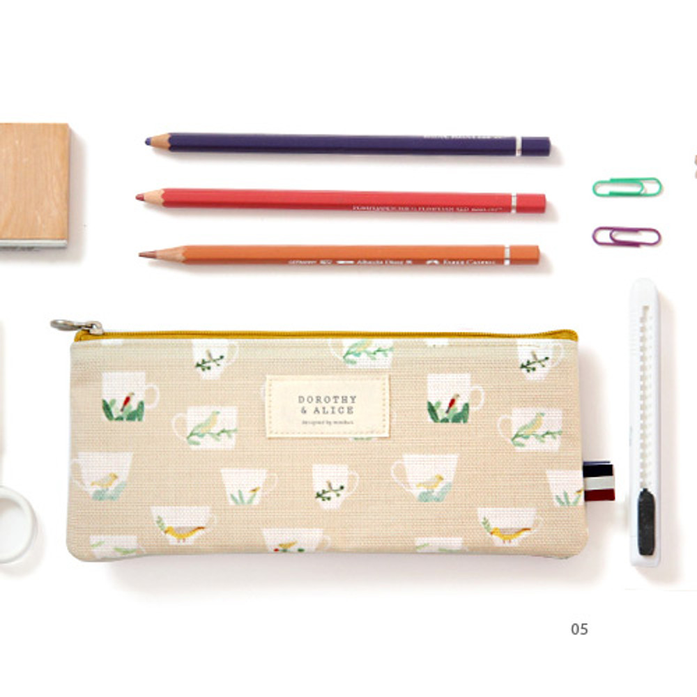 05 - Dorothy and Alice poly zipper pencil pouch